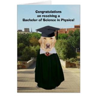 Rolig labbfysikstudent hälsningskort