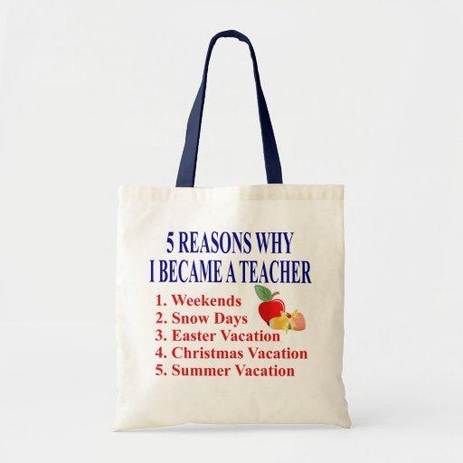 Rolig läraregåva tote bag
