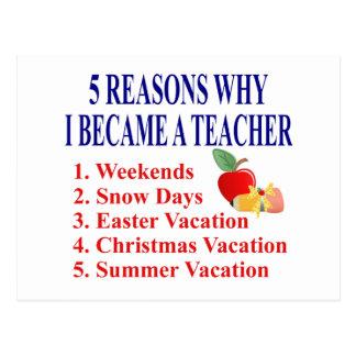 Rolig läraregåva vykort