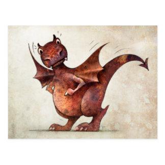 Rolig lite drake för barn vykort