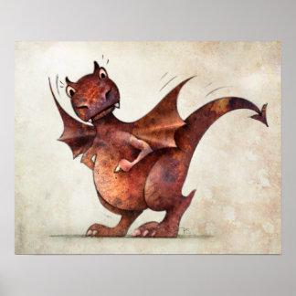 Rolig lite Magical drake Poster