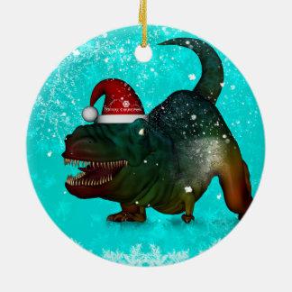 Rolig lycklig T-rex wish dig god jul Julgransprydnad Keramik