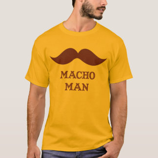 Rolig macho manmustasch t-shirt
