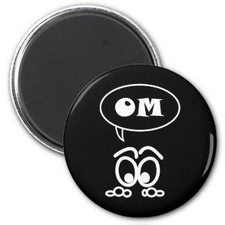 Rolig magnet för OM-meditation Kylskåpsnagnet