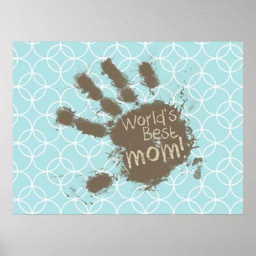 Rolig mamma; Baby blue cirklar Posters