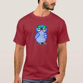 Rolig manar för Hipsterblåttuggla röd T-tröja för Tröja