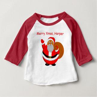 Rolig modern tecknad av jolly svart jultomten, t-shirt