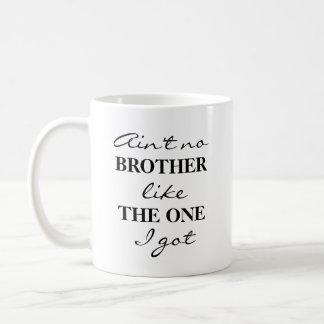 Rolig mugg för broderkaffeTea