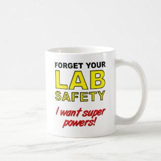 Rolig mugg för labbsäkerhet