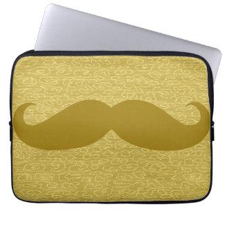 Rolig mustasch laptop fodral