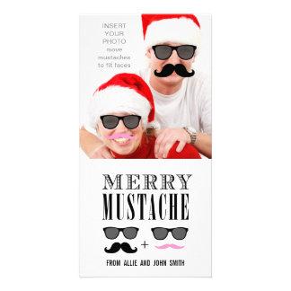 Rolig mustaschsolglasögonjul fotokort