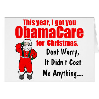 Rolig ObamaCare julhälsning Hälsningskort