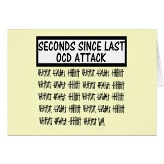 Rolig OCD Hälsningskort