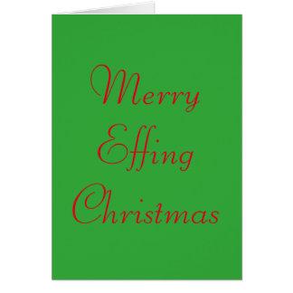 Rolig och ohyfsad julkort hälsningskort