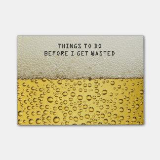 Rolig öl som Posta-det Postar-it®, noterar Post-it Lappar
