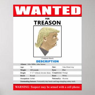 Rolig önskad trumf för Treason Poster