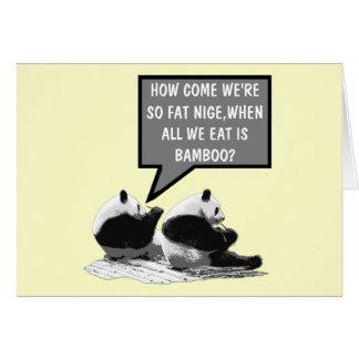 Rolig Panda Hälsningskort