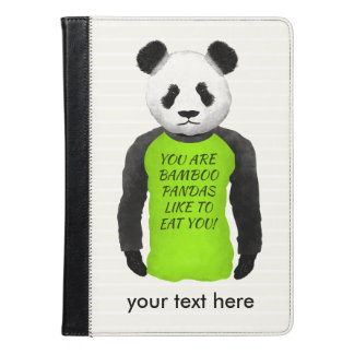 Rolig Panda som ha på sig en grön Tshirt