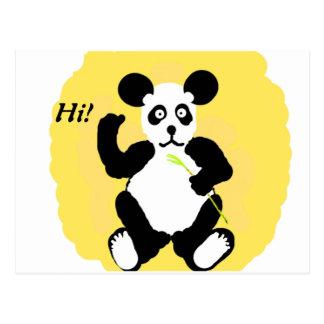 Rolig Panda Vykort