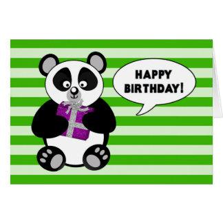 Rolig Pandabjörn - FÖDELSEDAG - humor Hälsningskort