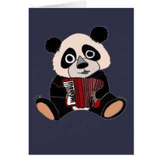 Rolig Pandabjörn som leker dragspel Hälsningskort
