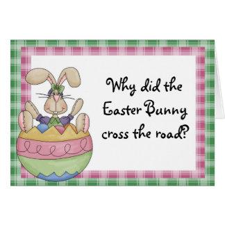Rolig påsk hälsningskort