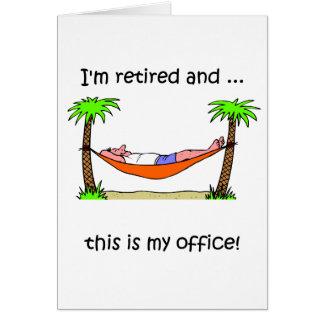 Rolig pensionhumor kort