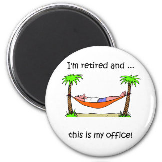 Rolig pensionhumor magnet