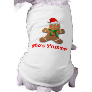 Rolig pepparkaksgubbe med den Santa hatten Långärmad Hundtöja
