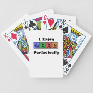 Rolig periodisk kemi för bordbaconvetenskap spelkort
