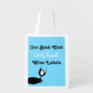 Rolig personlig för blått för bokklubbvinord | återanvändbar påse