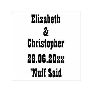 Rolig personligbröllop spara datum Nuff sade Självfärgande Stämpel
