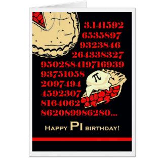 Rolig Pi-dagfödelsedag, hastigt grepp en skiva av Hälsningskort