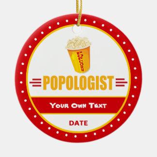 Rolig Popcorn Julgransprydnad Keramik