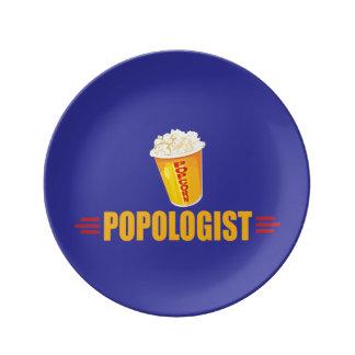 Rolig Popcorn Porslinstallrik