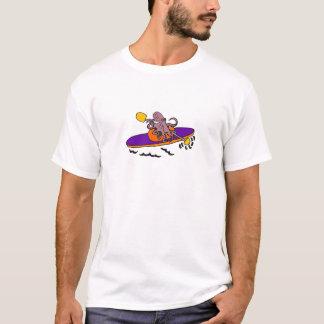 Rolig purpurfärgad bläckfisk som Kayaking T Shirt