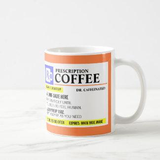 Rolig receptkaffemugg vit mugg
