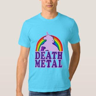 Rolig regnbåge för dödmetallUnicorn T Shirts