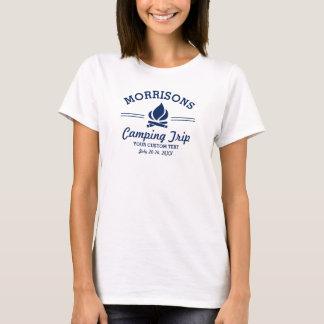 Rolig Retro beställnings- campa marinblå Tee Shirt