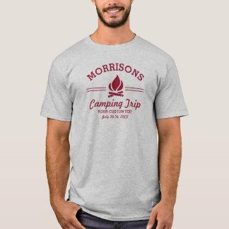 Rolig Retro beställnings- campa röd logotyp för T Shirt