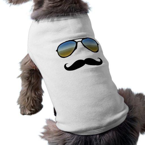 Rolig Retro solglasögon med moustachen Djurkläder