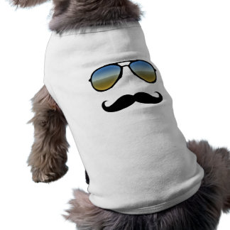 Rolig Retro solglasögon med moustachen Långärmad Hundtöja
