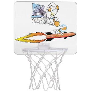 Rolig ring för basket för Ding ankatecknad Mini-Basketkorg