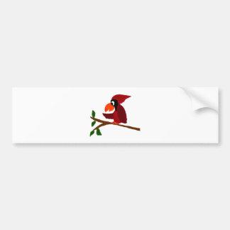 Rolig röd huvudsaklig fågelkonst bildekal
