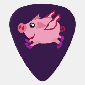 Rolig rosa flyggristecknad plektrum