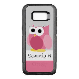 Rolig rosa ugglapersonligSamsung galax S8 OtterBox Commuter Samsung Galaxy S8+ Skal
