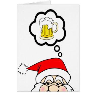 Rolig Santa julkort Hälsningskort