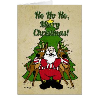 Rolig Santa julkort OBS Kort