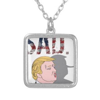 Rolig sarkastisk anti president Donald Trump Silverpläterat Halsband