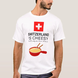 Rolig schweizisk Fondue T Shirt